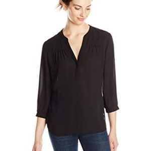 NYDJ Shirred 3/4 Sleeve Blouse